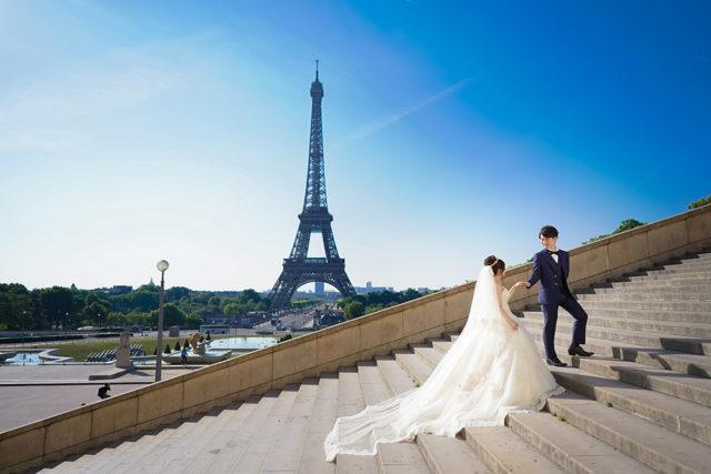 海外パリの結婚式写真