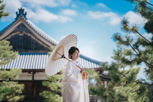 京都大覚寺の前撮り・フォトウェディング