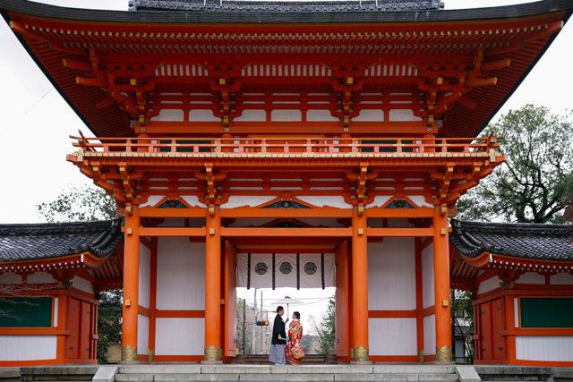 京都今宮神社の前撮り・フォトウェディング